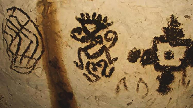 Antichi dipinti rinvenuti all'interno della Grotta dei Cervi a Porto Badisco - foto di amerigodercenno su Flickr - Tutti i diritti riservati